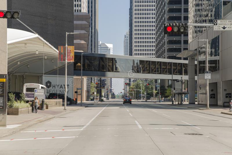 Houston d'une certaine rue le centre ville photographie stock