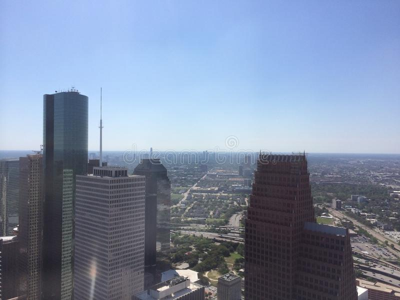 Houston dalla vista di occhio di uccelli immagini stock