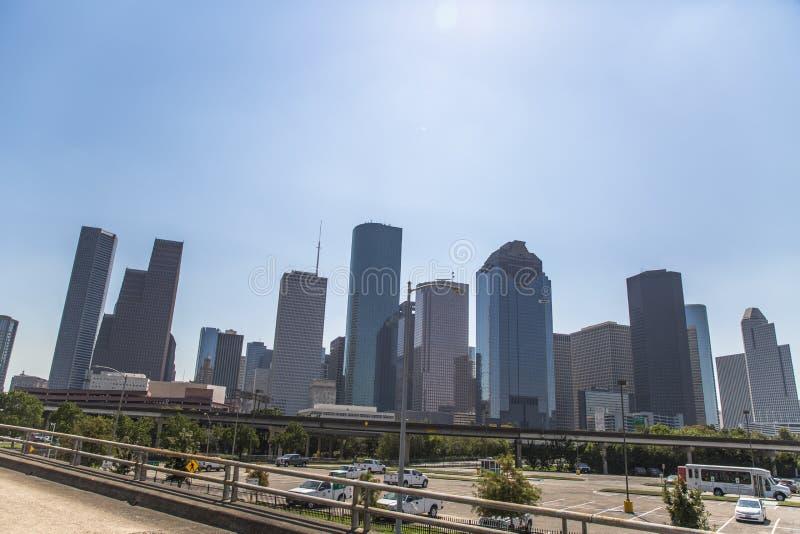 Houston de stad in van snelweg 10 royalty-vrije stock afbeelding