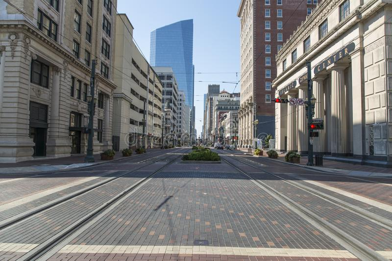 Houston du centre de la rue principale photos stock