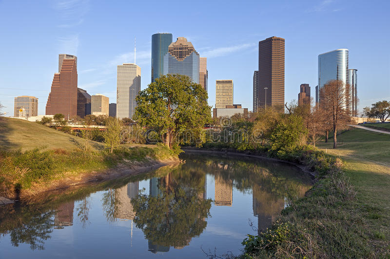 Houston du centre, le Texas image libre de droits