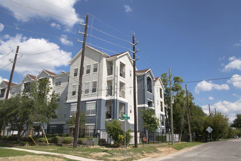 Houston in een buurt van uit het stadscentrum royalty-vrije stock foto