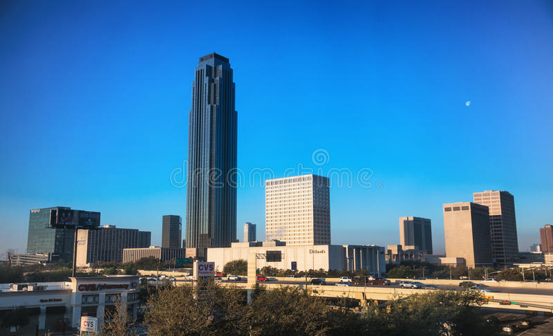 Houston Galleria. View of the Houston Galleria area early in the morning stock image