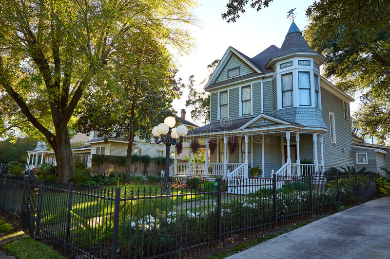 Houston heights victorian style houses Texas. Houston heights victorian style houses in Texas royalty free stock images