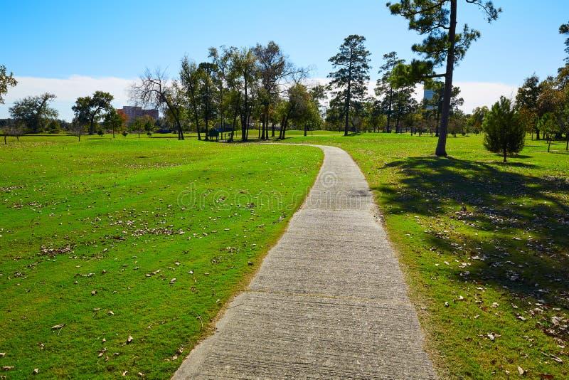Houston Hermann park conservancy grass stock photo
