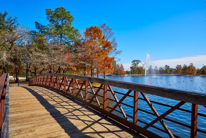 Houston Hermann park Mcgovern lake. Houston Hermann park conservancy Mcgovern lake at autumn in Texas royalty free stock image