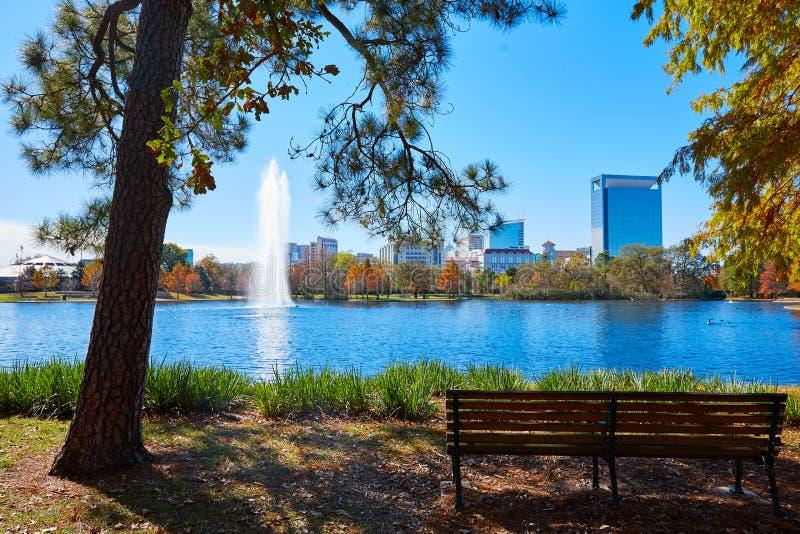 Houston Hermann park Mcgovern lake stock images
