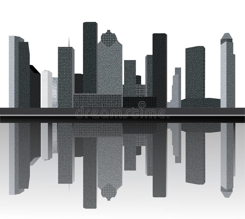 houston horisont vektor illustrationer