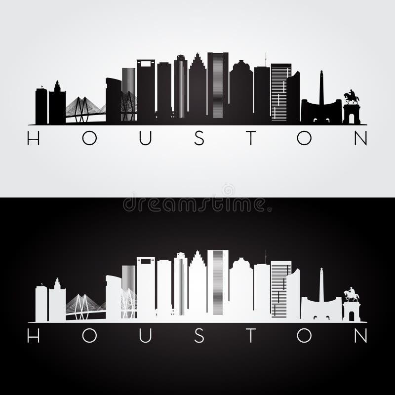 Houston horisontkontur stock illustrationer