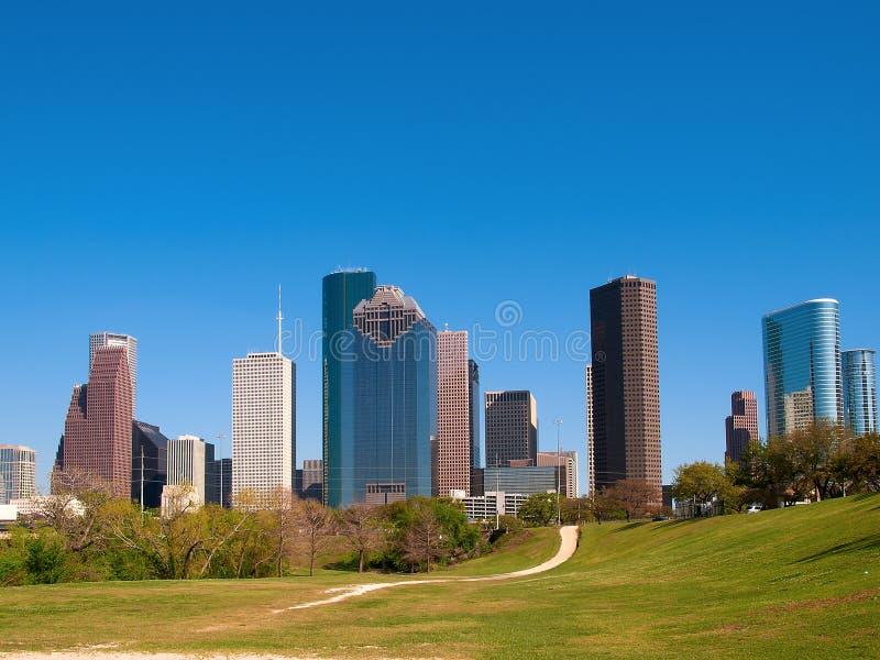 Houston im Stadtzentrum gelegen stockfotografie