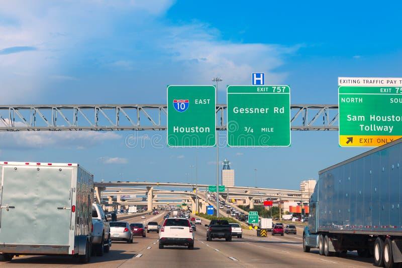 Houston Katy Freeway Fwy em Texas EUA foto de stock royalty free