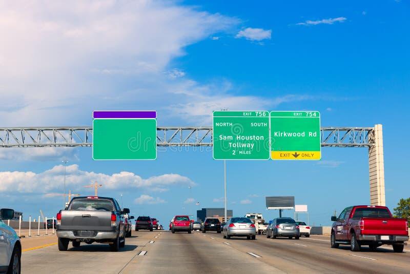 Houston Katy Freeway Fwy em Texas EUA fotografia de stock