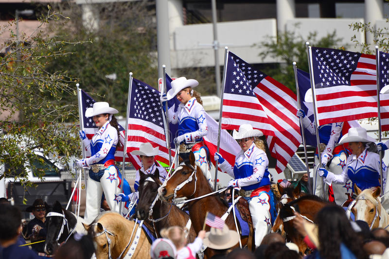Houston Livestock Show- und Rodeo-Parade lizenzfreie stockfotografie
