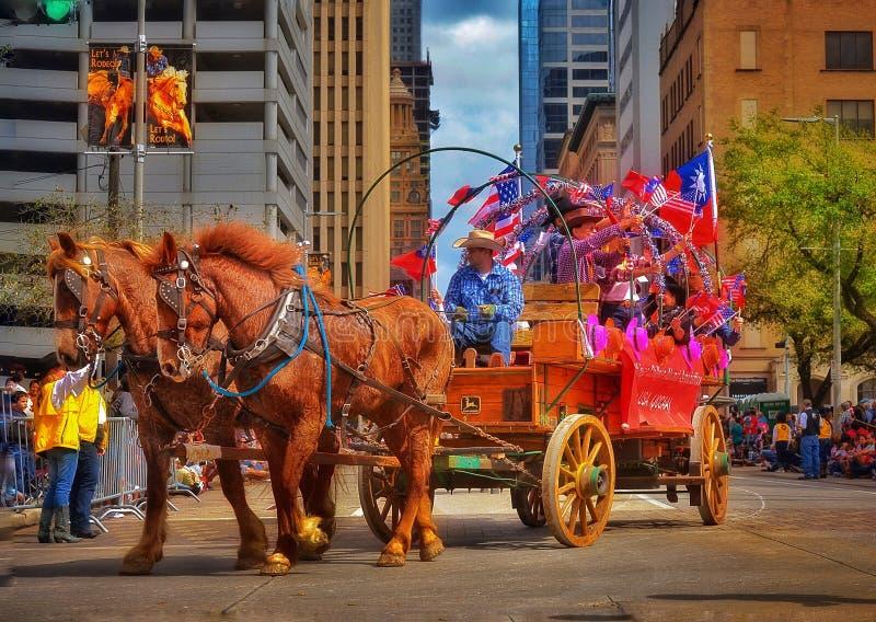Houston Livestock Show- und Rodeo-Parade stockfotografie
