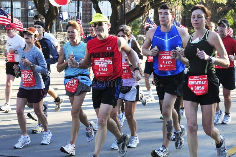 Houston maraton arkivbilder