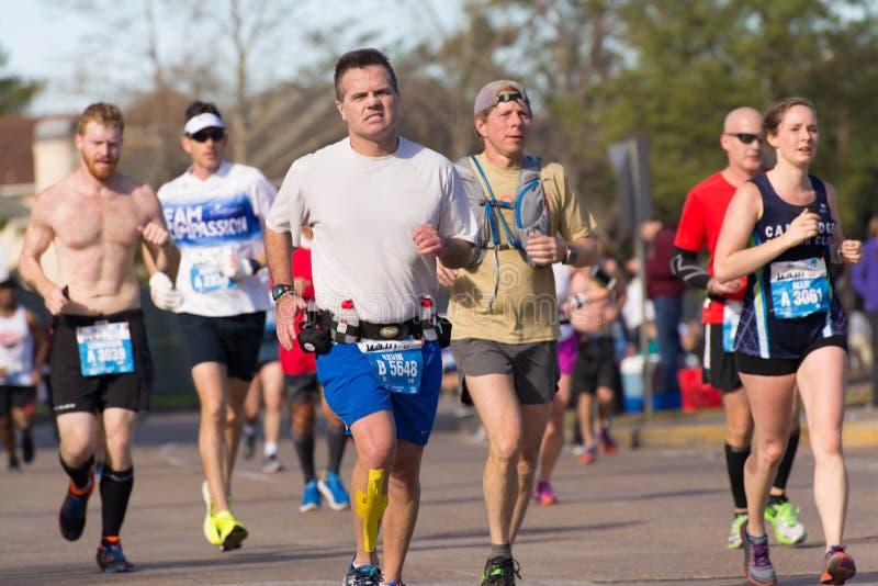 Houston maratonu 2015 biegacze obrazy royalty free