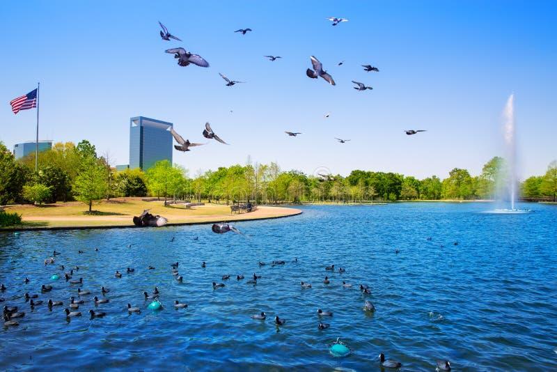 Houston Mc reglerar sjön med vårvatten arkivfoton