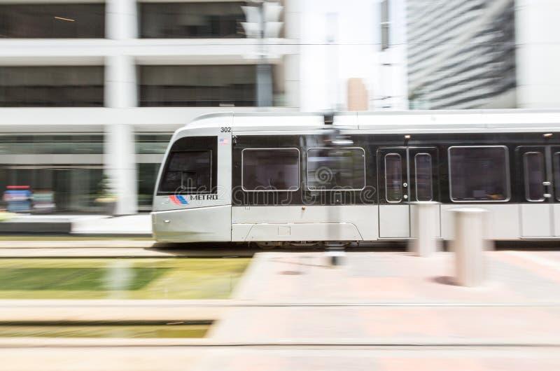 Houston Metro in Bewegung stockbilder