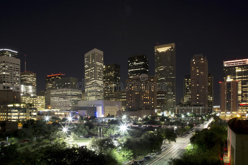 Download Houston night editorial photo. Image of office, building - 57623966