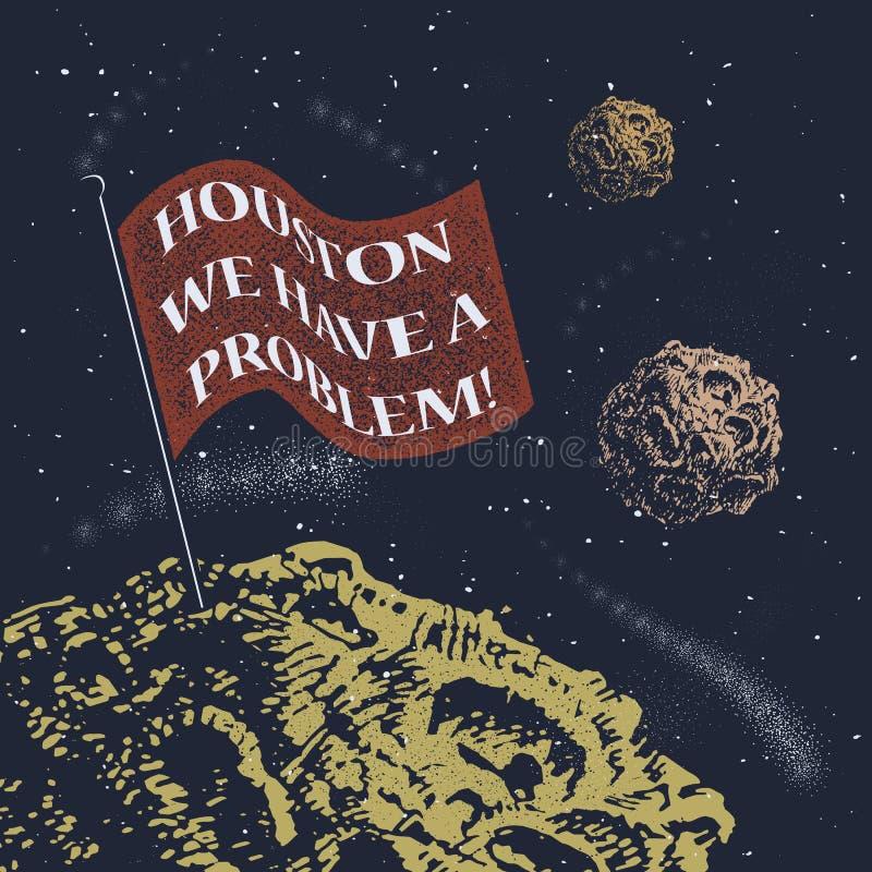 Houston, nous avons un problème illustration de vecteur