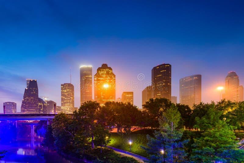 Houston Park en Horizon stock foto