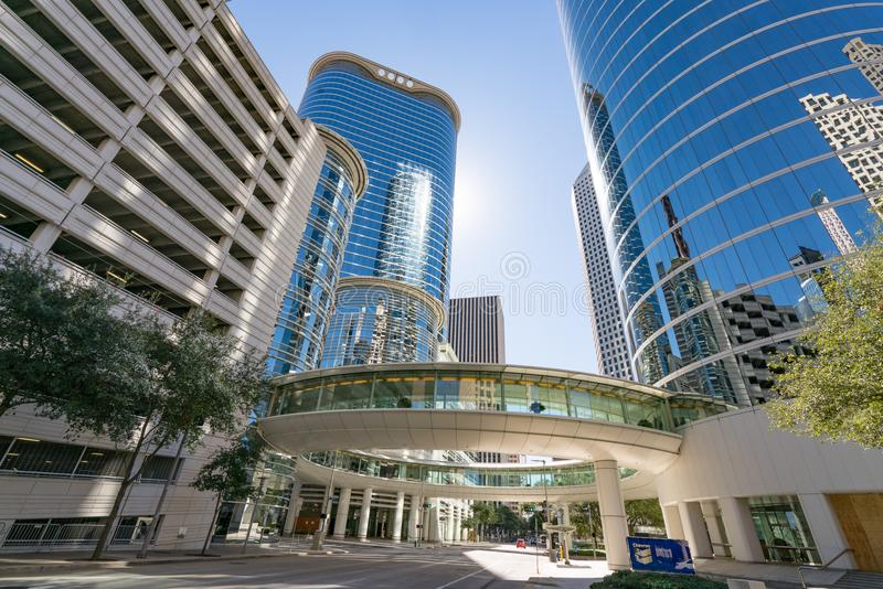 Houston Sky Walk du centre photo stock