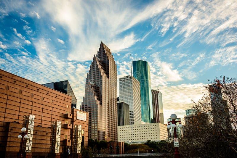 Houston Skyline foto de archivo