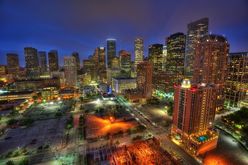 Houston Skyline de V.S. royalty-vrije stock afbeelding