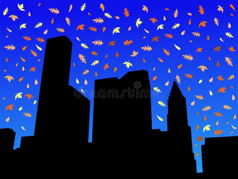Houston-Skyline im Herbst vektor abbildung