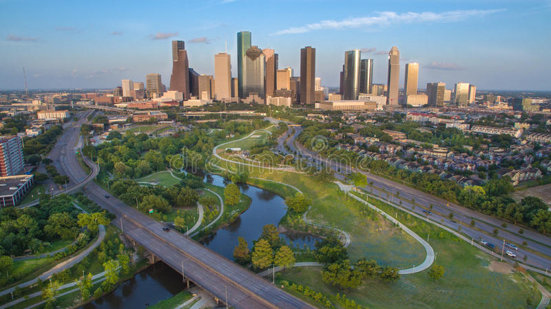 Houston Skyline. During late afternoon looking east royalty free stock photos