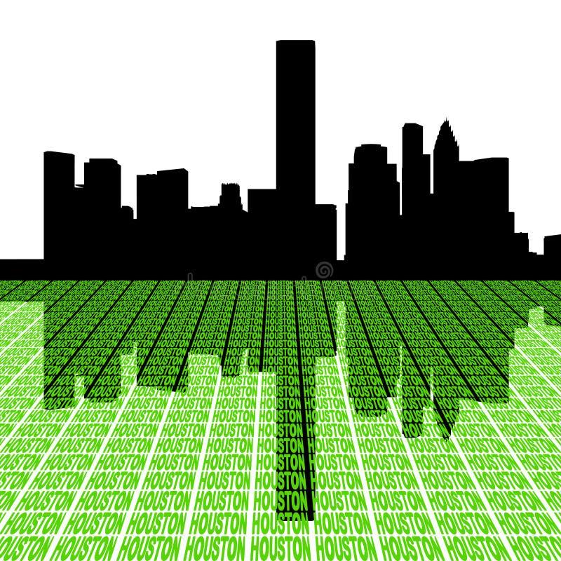 Houston-Skyline mit Text stock abbildung