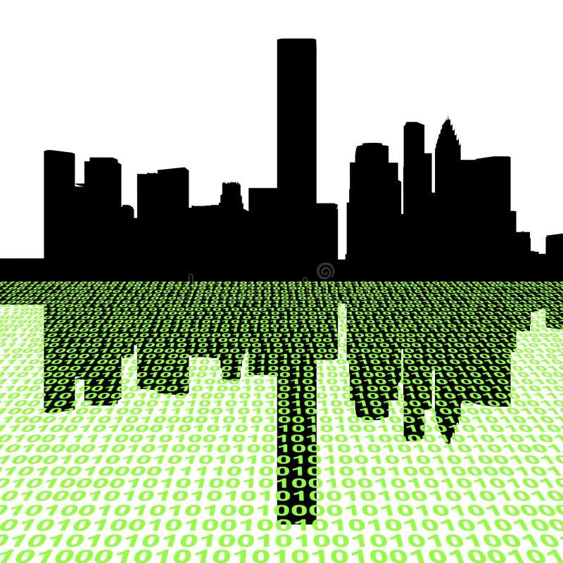 Houston-Skyline mit Zweiheit vektor abbildung