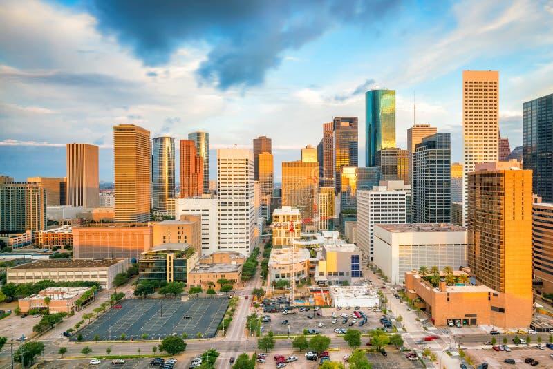 Houston Skyline van de binnenstad stock afbeelding