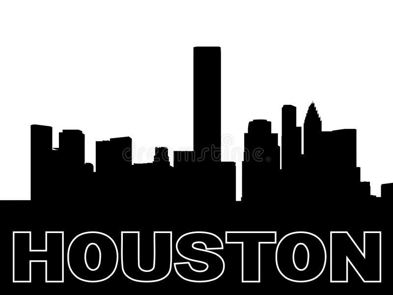 Houston-Skylineschattenbild lizenzfreie abbildung