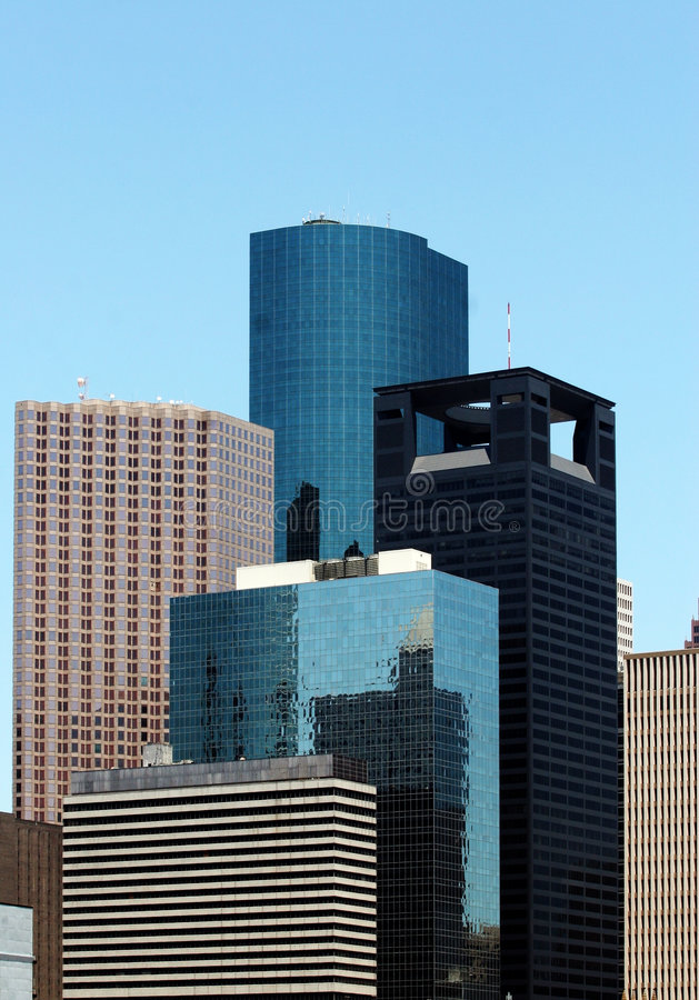 Houston Skyscrapers royalty free stock photos
