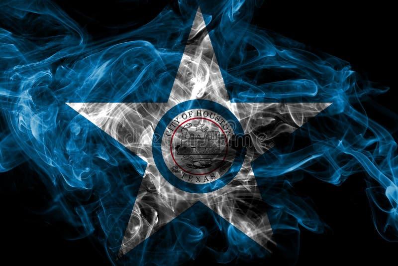 Houston-Stadtrauchflagge, Texas State, die Vereinigten Staaten von Amerika lizenzfreie stockfotos