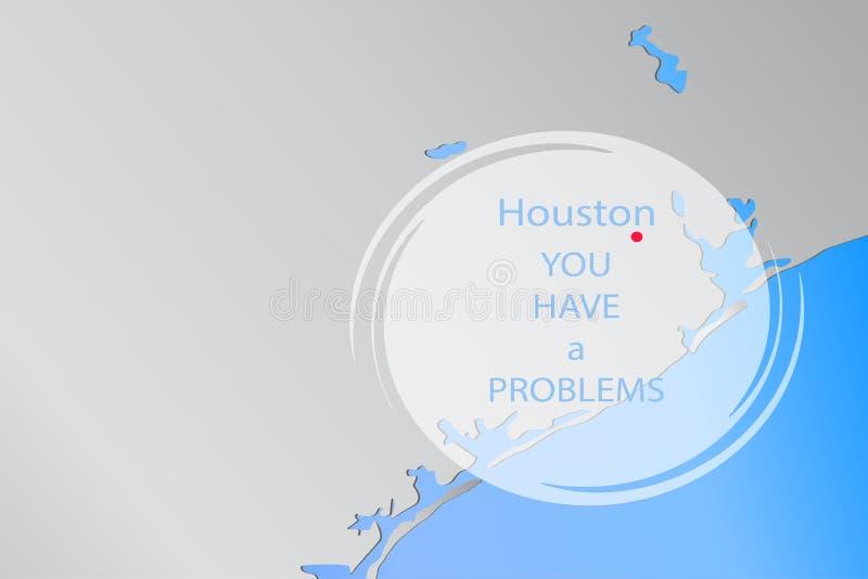 Houston sur la carte illustration stock