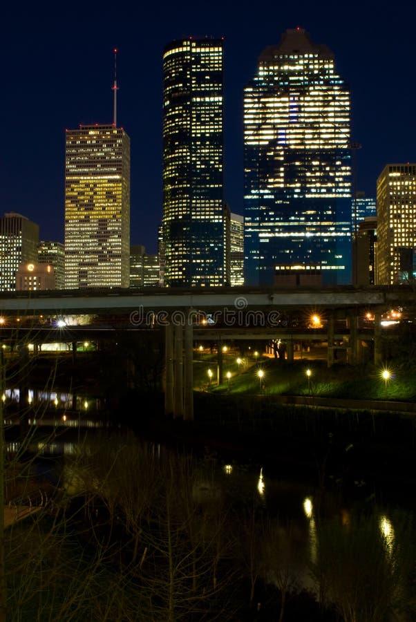 Houston Tejas (noche) foto de archivo libre de regalías