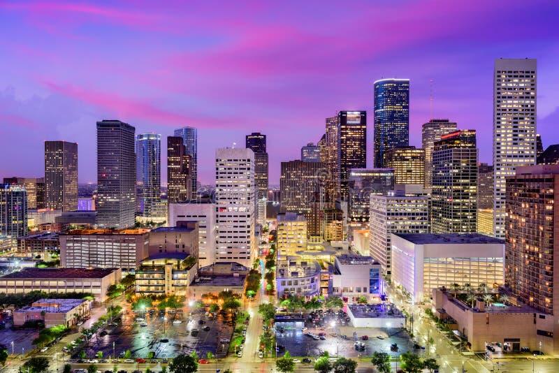 Houston, Teksas linia horyzontu zdjęcia royalty free