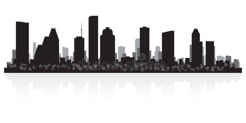 Houston Teksas miasta linii horyzontu sylwetka ilustracji