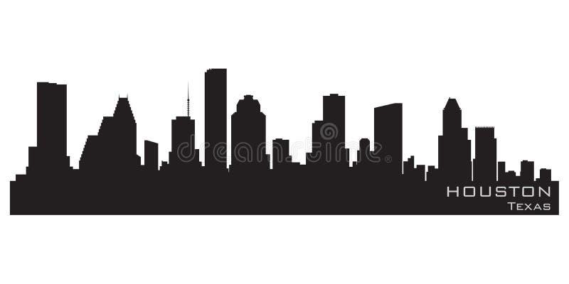 Houston, Teksas miasto linia horyzontu Szczegółowa wektorowa sylwetka ilustracja wektor