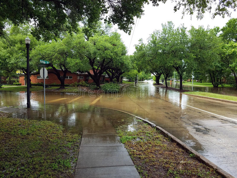 Houston Teksas wylew obrazy royalty free
