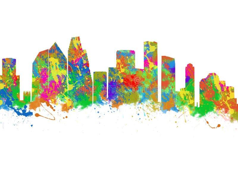 Houston Texas ilustração stock
