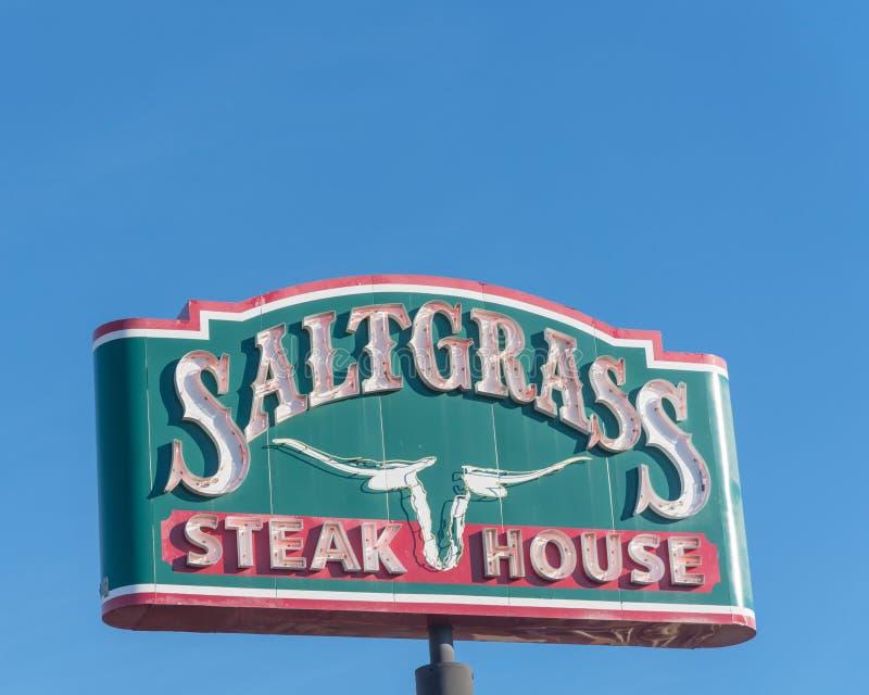Houston, Texas basierte Saltgrass-Steakhaus, das durch Landry's besessen wurde, stockfotografie