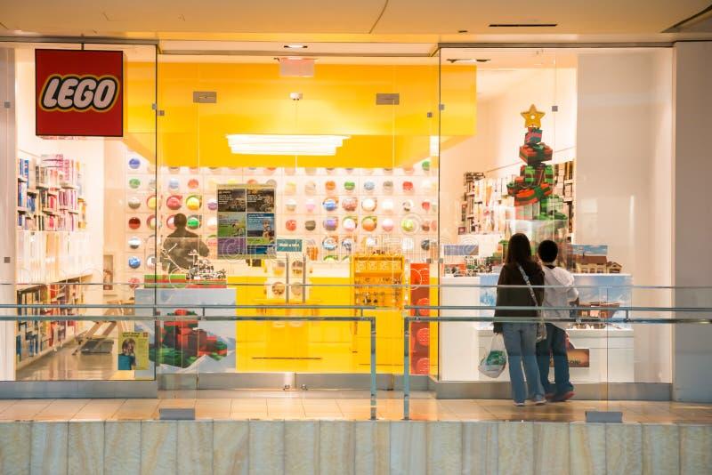 HOUSTON TEXAS - DECEMBER, 2014: LEGO-detaljist arkivfoto