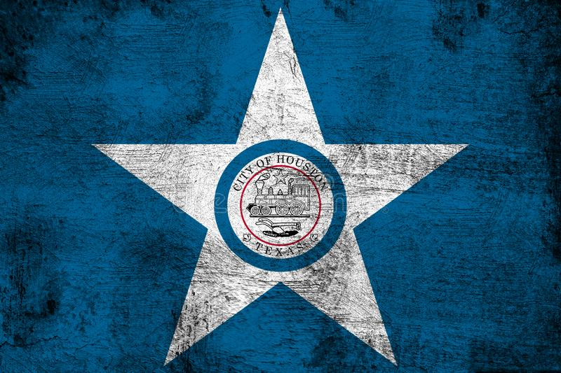 Houston Texas. Grunge and dirty flag illustration. Perfect for background or texture purposes vector illustration