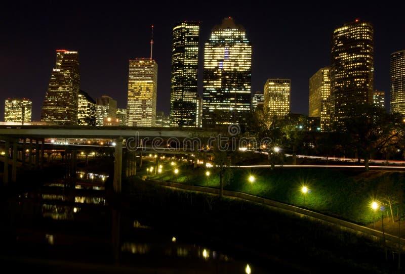 Download Houston Texas (night) stock image. Image of highrise, urban - 8396237