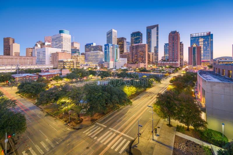 Houston, Texas, parc du centre des Etats-Unis et horizon photo libre de droits