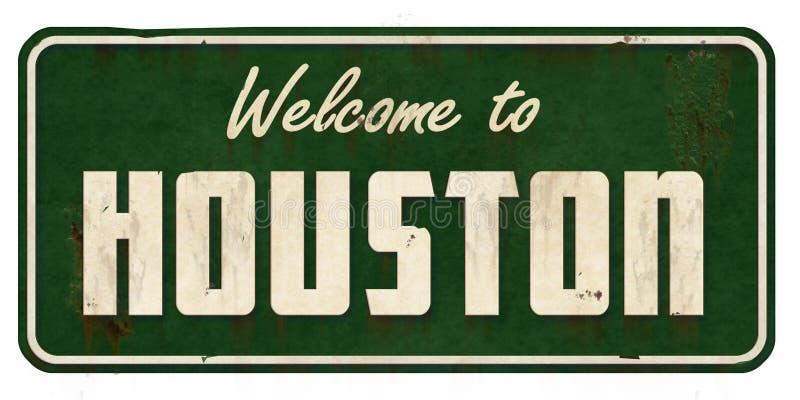 Houston Texas Road Sign Grunge stock foto's