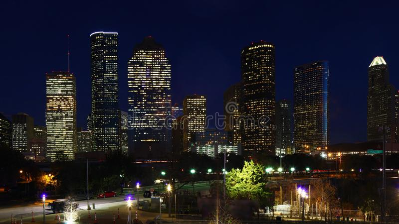 Houston, Texas skyline after dark. The Houston, Texas skyline after dark royalty free stock photo